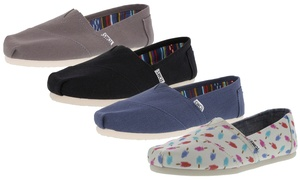 Toms Women's Classic Canvas Slip-On Shoes
