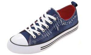 Women's Denim Cap Toe Sneakers