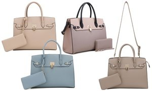 MKII Marcie Padlock Tote Purse and Wallet Set (2-Piece)