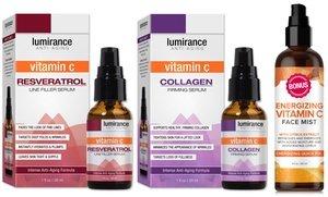Lumirance Vitamin C Resveratrol and Collagen Skincare Duo