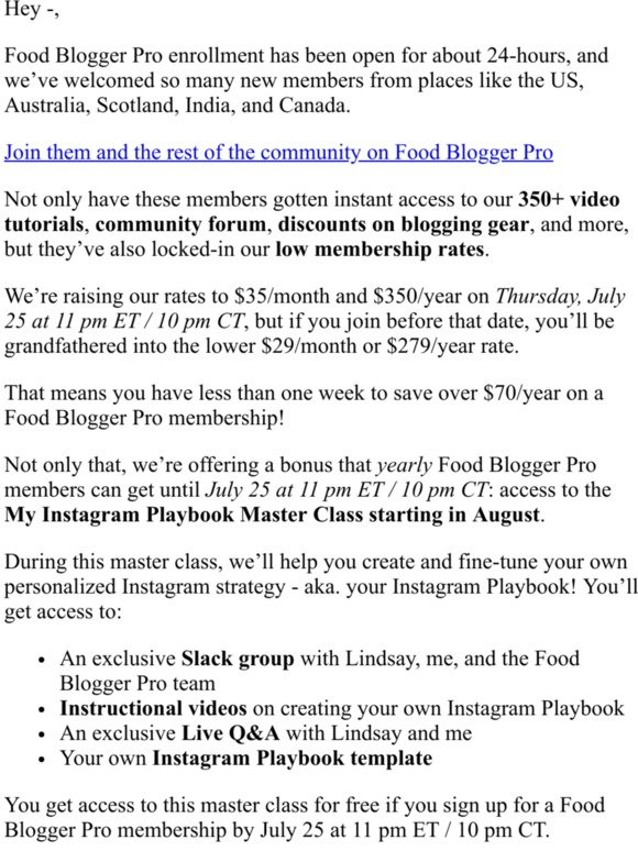 Food Blogger Pro: Why now is the time to join Food Blogger