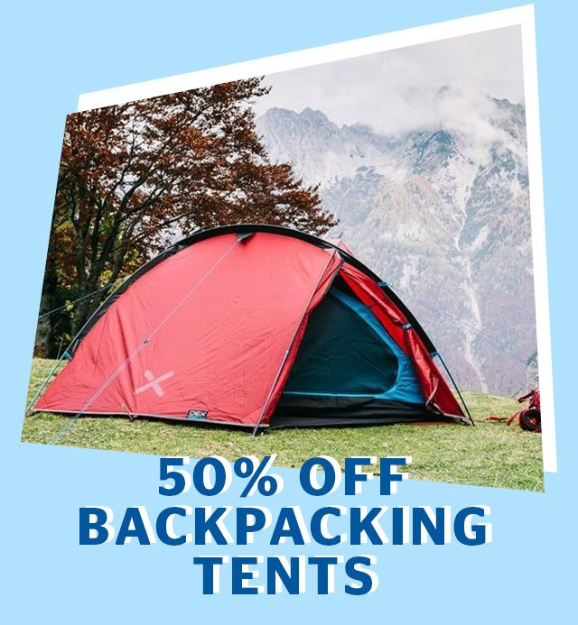 50% Off Backpacking Tents