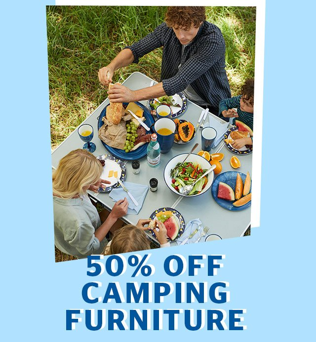 50% Off Camping Furniture