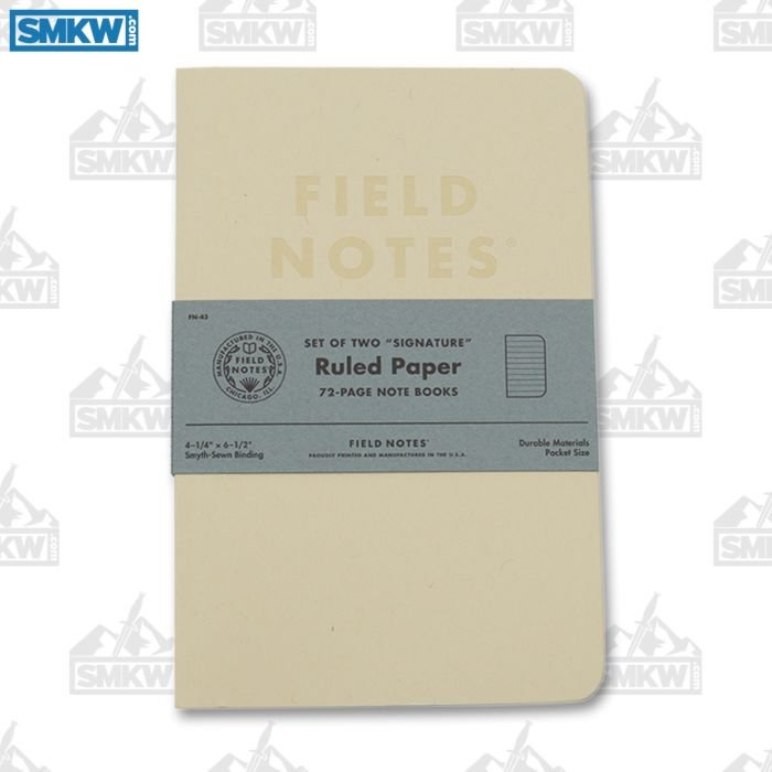 FIELD NOTES SIGNATURE RULED NOTEBOOKS SET OF 2