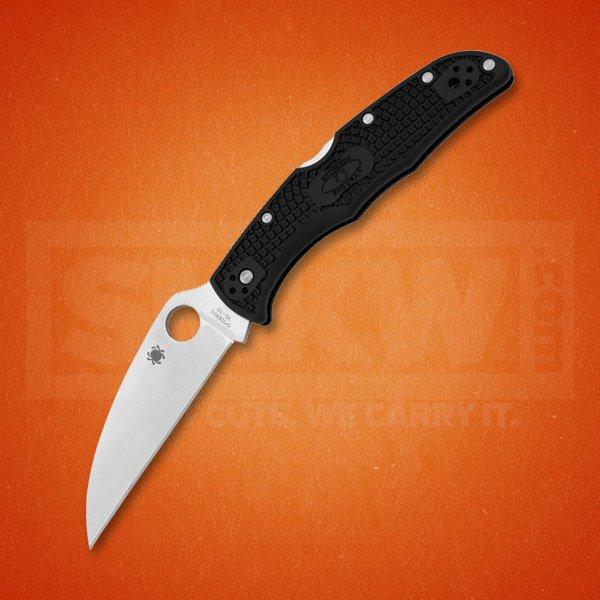 SPYDERCO ENDURA 4 VG-10 STAINLESS STEEL WHARNCLIFFE BLADE BLACK FRN HANDLE