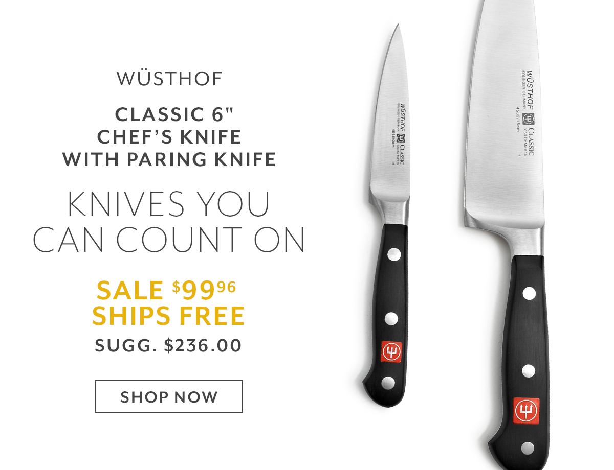 Wüsthof Classic 6 Chef's Knife with Paring Knife