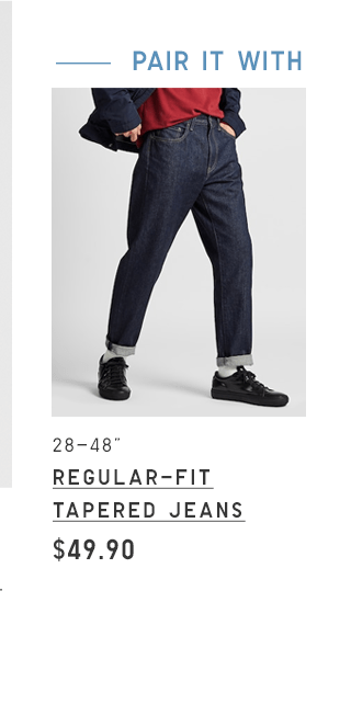 BODY3 PDP2 - MEN REGULAR-FIT TAPERED JEANS