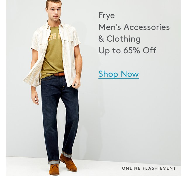Frye Men's Accessories & Clothing Up to 65% Off | Shop Now | Online Flash Event