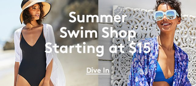 Summer Swim Shop | Starting at $15 | Dive In