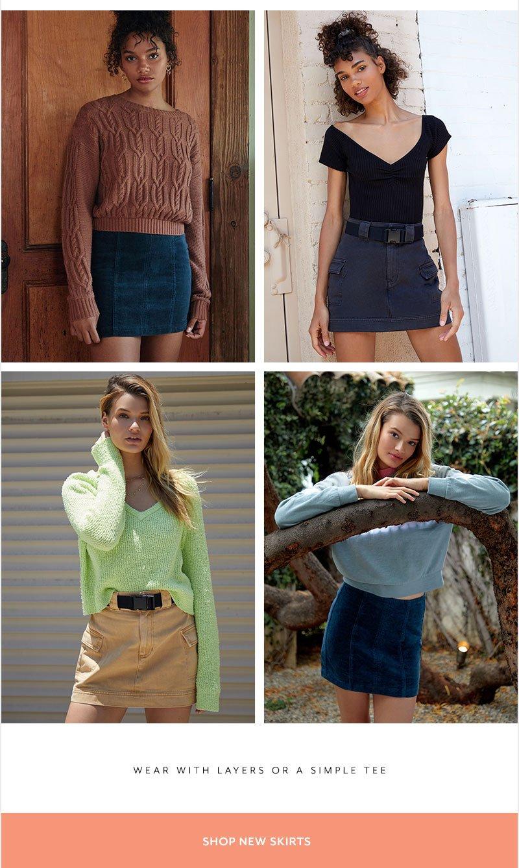 - Shop New Skirts