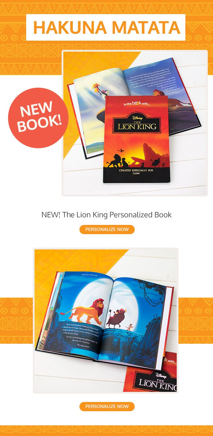 Disney's The Lion King Personalized Storybook
