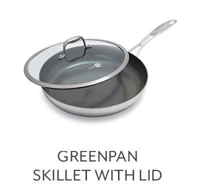 GreenPan Diamond + Evershine Skillet with Lid, 12