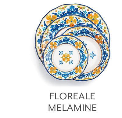 Floreale 16-Piece Melamine Dinnerware Set