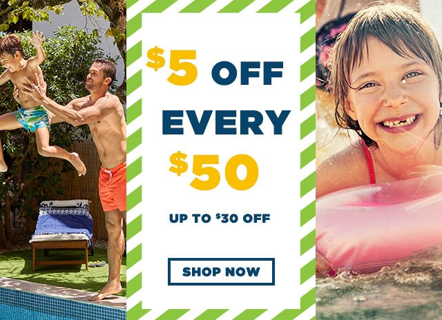 $5 Off Every $50!