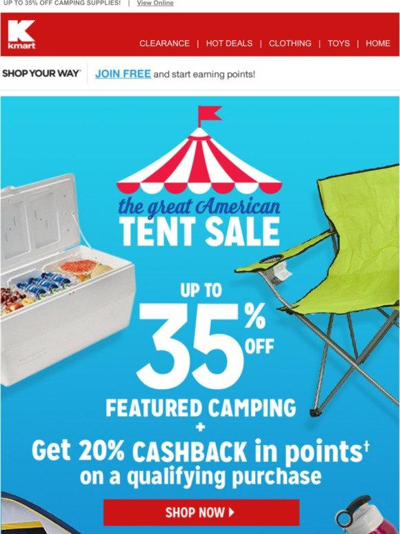 kmart: The Great American Tent Sale: NOW WITH MORE TENTS