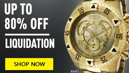 Invicta liquidation up to 80% off