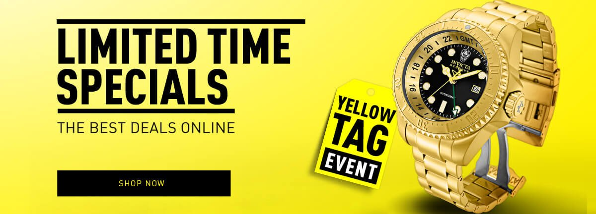 Invicta Yellow Tag Event Sale