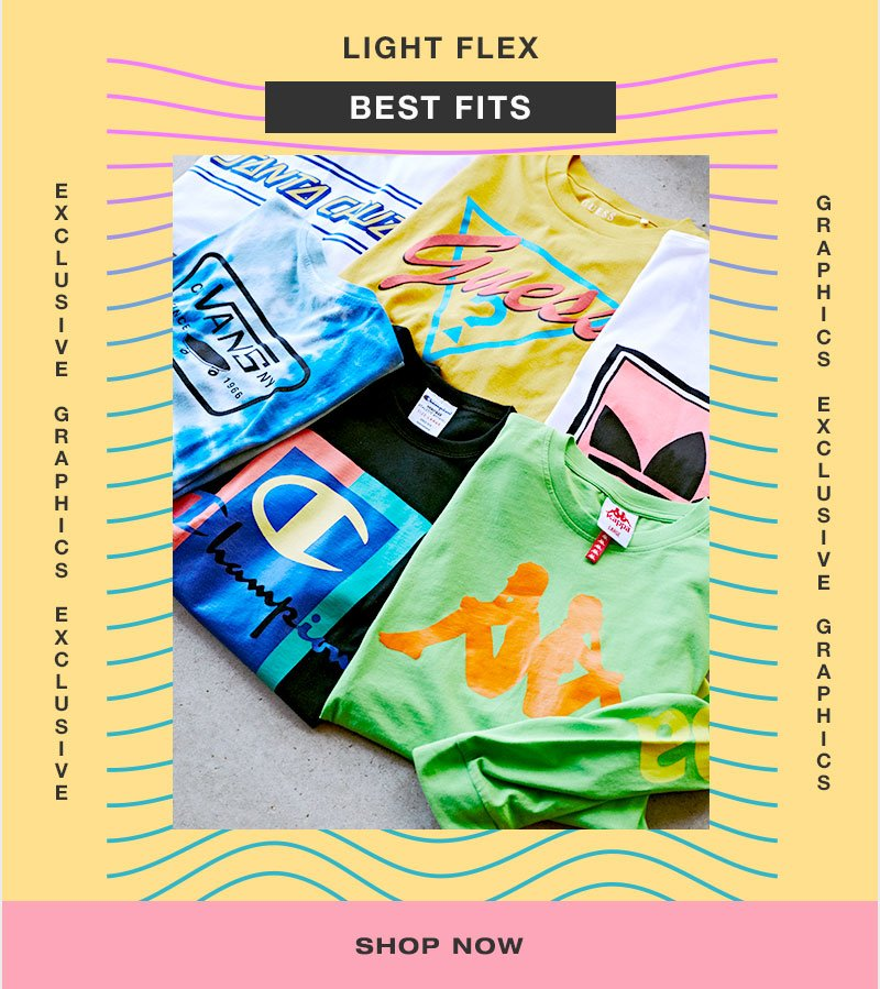 light flex - best fits - Shop graphics