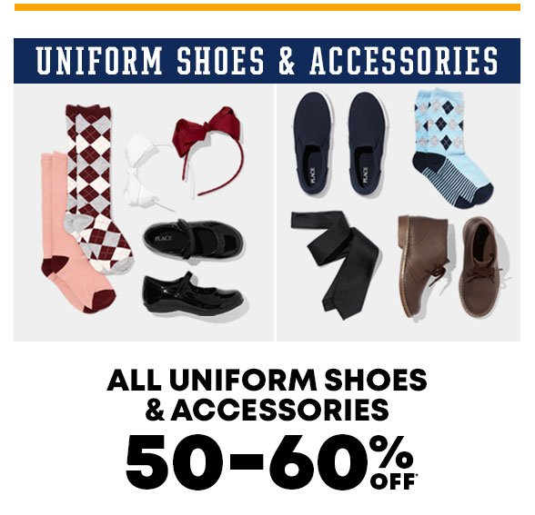 50-60% Off Uniform Shoes & Accessories