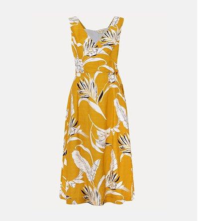 Shaniya Printed Linen Dress