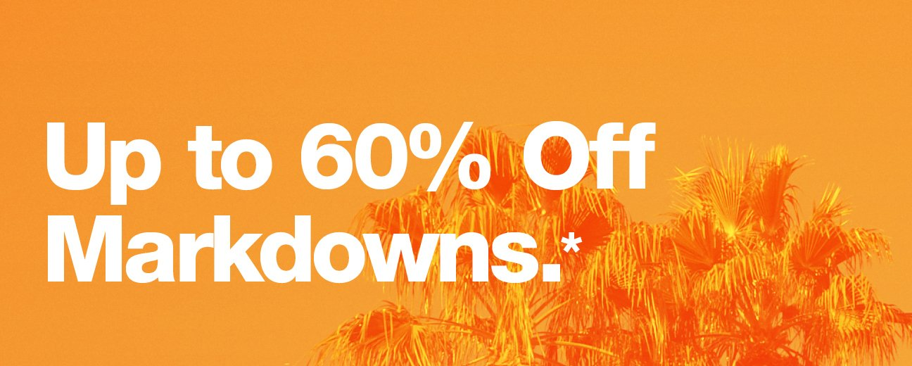 Up to 60% Off Markdowns