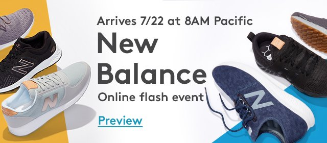 Arrives 7/22 at 8AM Pacific | New Balance | Online Flash Event