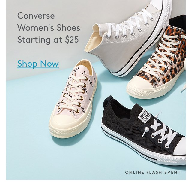 Converse | Women's Shoes | Starting at $25 | Shop Now | Online Flash Event