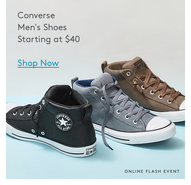 Converse | Men's Shoes | Starting at $40 | Shop Now | Online Flash Event