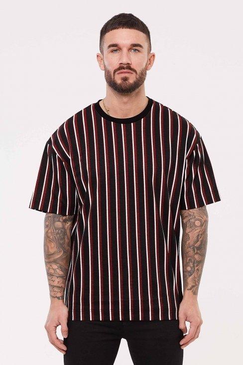 Strand Oversized Maroon T-Shirt