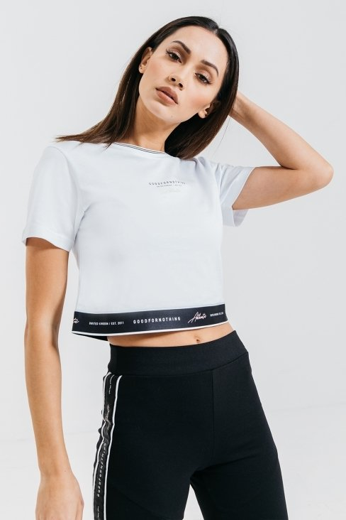 Authentic White Crop Top