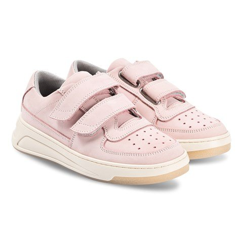 Acne Studios Lilac And White Mini Steffey Nubuck Trainers