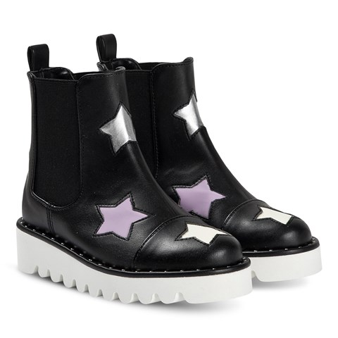 Stella McCartney Kids Black Star Chelsea Boots