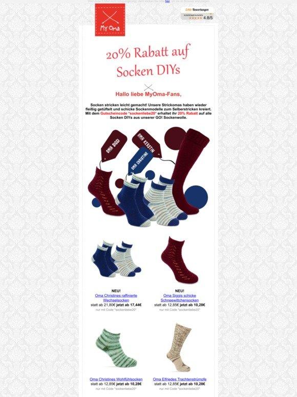 Myoma Wolle Strickzubehor Stricksets 20 Rabatt Auf Socken