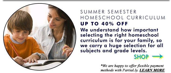 Homeschool Curriculum up to 40% off