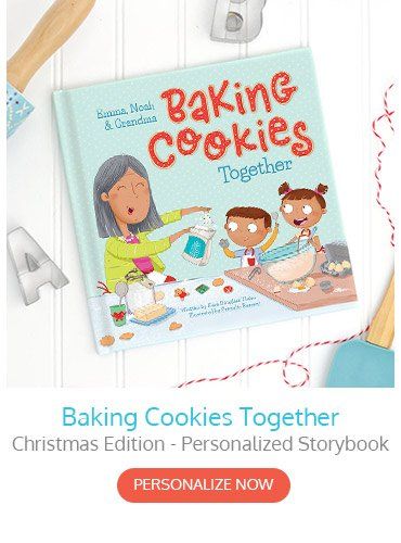 Baking Christmas Cookies Together Personalized Storybook