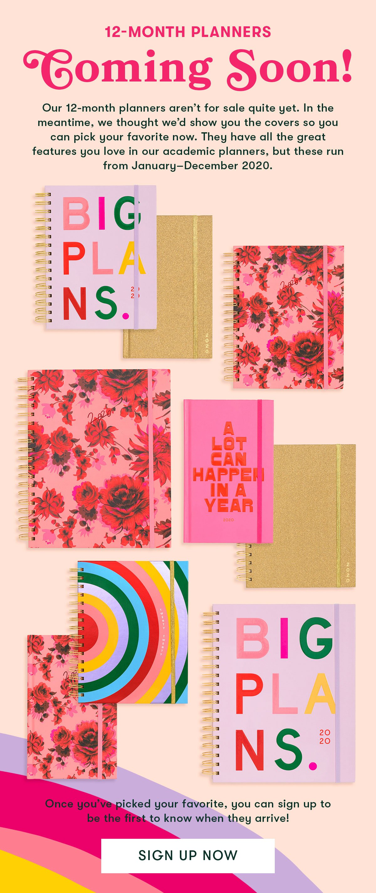 12-month planners coming soon!