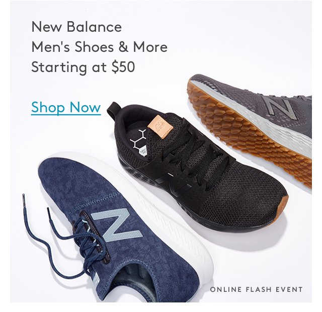 New Balance | Men's Shoes & More | Starting at $50 | Shop Now | Online Flash Event