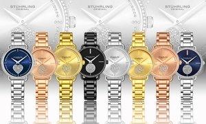 Stuhrling Women's Vogue Crystal Bracelet Watch
