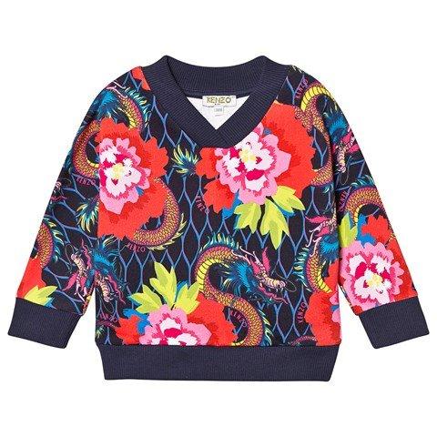 Kenzo Kids Navy Dragon Floral Kenzo Sweatshirt