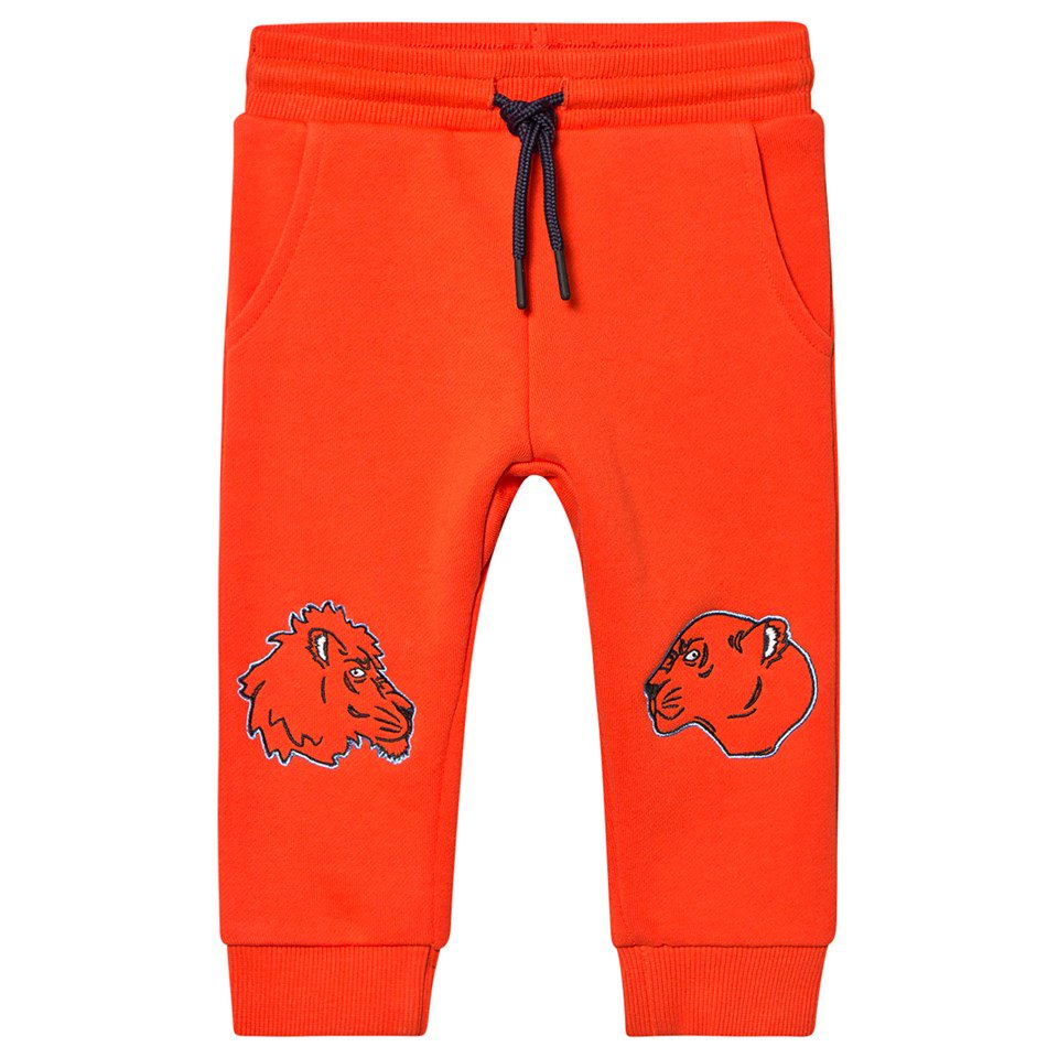 Kenzo Kids Orange Kenzo Tiger Sweatpants
