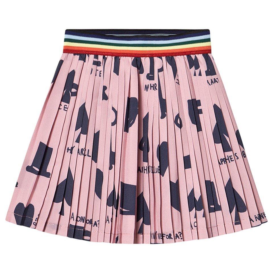 Beau Loves Pink Wonderland Pleated Mini Skirt