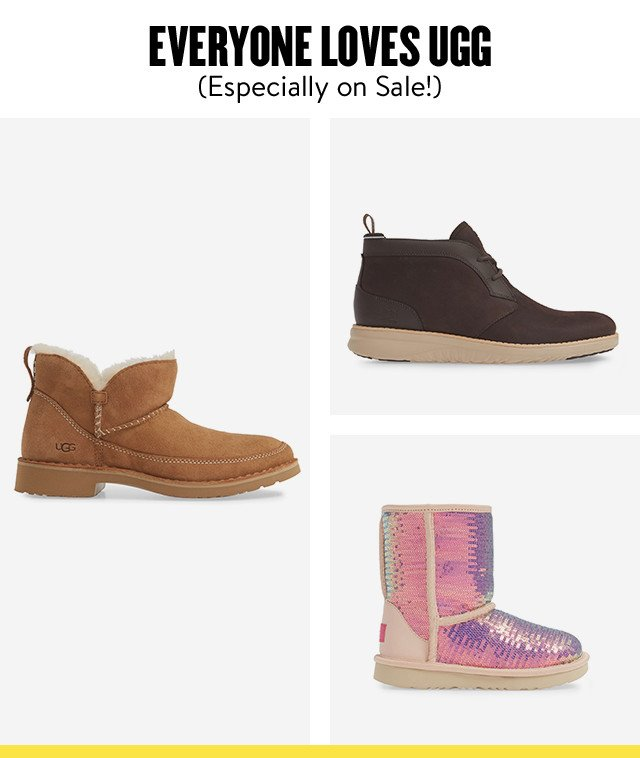 UGG for women, men and kids at Anniversary Sale.