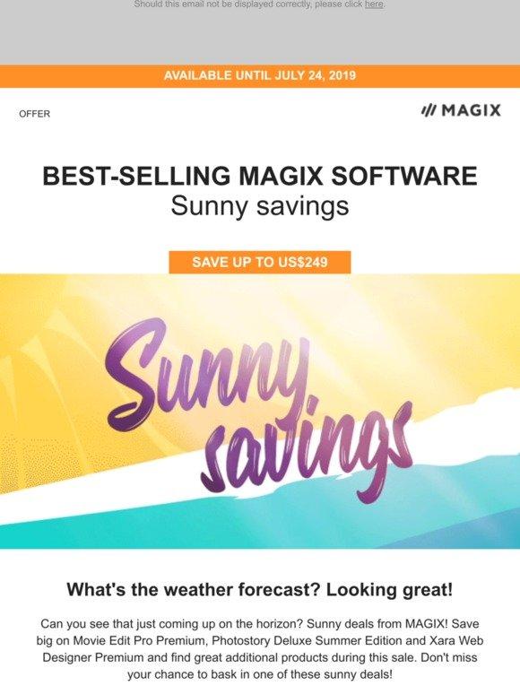 Magix Software Only 2 Days Left Sunny Deals On Movie Edit Pro Photostory Xara Web Designer Milled