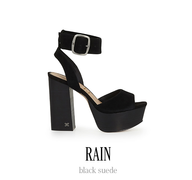 RAIN black suede
