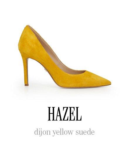 HAZEL dijon yellow suede