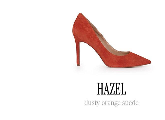 HAZEL dusty orange suede