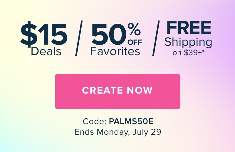 Mixbook | 50% Off Most Loved Products with code PALMS50E. Offer ends Monday, July 29.
