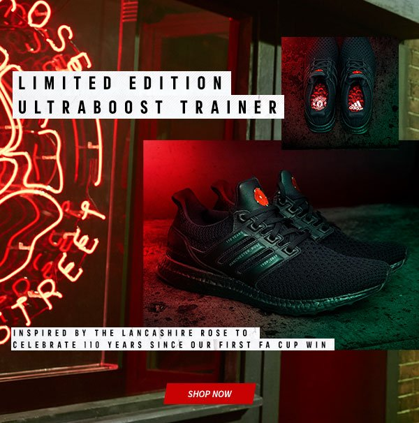 Manchester United Direct Out Now Limited Edition Ultraboost Trainers Milled