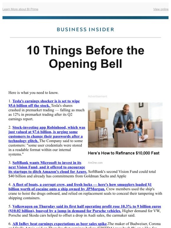 Business Insider: 10 things you need to know before the