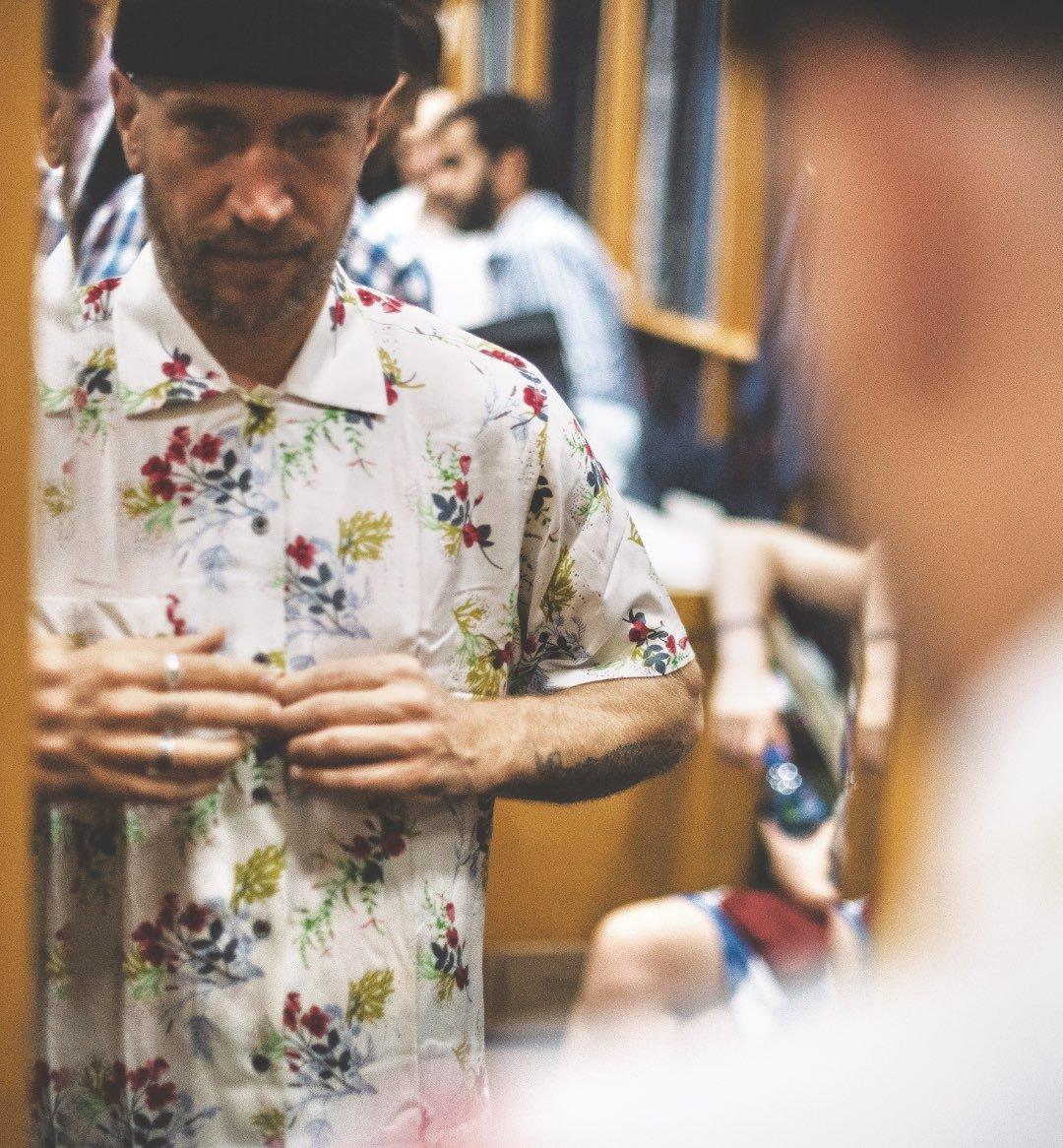 Jamie Thomas at a fitting in Hong Kong.